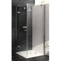 Hüppe Enjoy pure częściowo w ramie 4-kąt drzwi prysznicowe 80 cm lewe chrom eloxal/szkło przezroczyste Anti-Plaque 4T0102.092.322