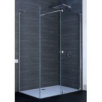 Hüppe Xtensa Pure 4-kąt ścianka prysznicowa 90 cm boczna srebrny połysk szkło przezroczyste Anti-Plaque XT0307.069.322