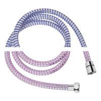 Invena wąż prysznicowy 150 cm zmieniający kolor chrom / niebieski AW-31-005
