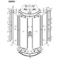 Koło Ultra uszczelka do drzwi prysznicowych dolna prawa A200276