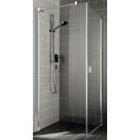 Kermi Raya RA TOL ścianka prysznicowa 75 cm lewa profile srebrny połysk RATOL07520VPK