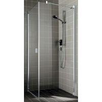 Kermi Raya RA TOR ścianka prysznicowa 75 cm prawa profile srebrny połysk RATOR07520VPK