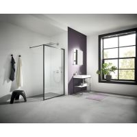 Kermi Walk-In XD WW4 ścianka prysznicowa 100 cm czarny/szkło przezroczyste XDWW4100203PK