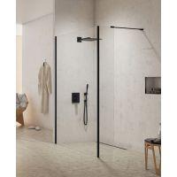 New Trendy New Modus Black ścianka prysznicowa Walk-In 30 cm krótka szkło przezroczyste EXK-0088