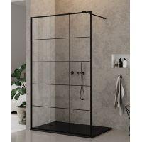 New Trendy New Modus Black ścianka prysznicowa Walk-In 90 cm szkło przezroczyste z nadrukiem EXK-0104