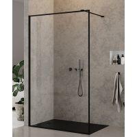 New Trendy New Modus Black ścianka prysznicowa Walk-In 140 cm czarny mat/szkło przezroczyste EXK-0253