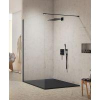 New Trendy New Modus Black ścianka prysznicowa Walk-In 80 cm szkło przezroczyste EXK-0057