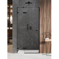 New Trendy Avexa Black drzwi prysznicowe 140 cm wnękowe lewe czarny/szkło przezroczyste EXK-1558