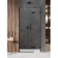 New Trendy Avexa Black drzwi prysznicowe 140 cm wnękowe prawe czarny/szkło przezroczyste EXK-1559