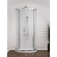 New Trendy New Rondo kabina prysznicowa 100x85 cm przyścienna szkło przezroczyste K-0275
