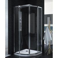 New Trendy Luxia kabina prysznicowa 90x90 cm półokrągła szkło przezroczyste EXK-1151