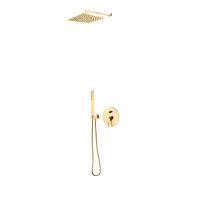 Zestaw Oltens Molle bateria podtynkowa z deszczownicą 30 cm Vindel (S) i kompletem prysznicowym Sog złoty 36603800