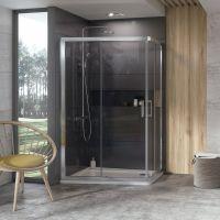 Ravak 10° kabina prysznicowa 120x90 cm asymetryczna satyna/transparent 0ZVG70U00Z1
