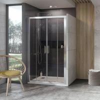 Ravak 10° drzwi prysznicowe 190 cm wnękowe satyna/transparent 0ZKL0U00Z1