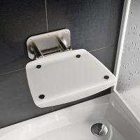 Ravak Ovo B II siedzisko prysznicowe mleczne B8F0000052
