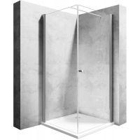 Rea Maxim kabina prysznicowa 80 cm kwadratowa prawa profile chrom REA-K0268