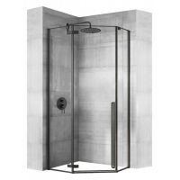 Rea Diamond Black kabina prysznicowa 80x80 cm pięciokątna szkło przezroczyste REA-K6900