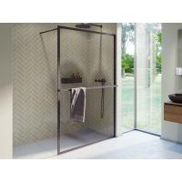 Riho Lucid GD400 ścianka prysznicowa 100 cm walk-in czarny/szkło przezroczyste GD410B000