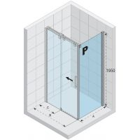 Riho Ocean ścianka prysznicowa 80 cm lewa szkło czyste GU0300101