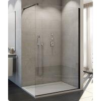 SanSwiss Easy ścianka prysznicowa Walk-In 120 cm wolnostojąca czarny mat/szkło przezroczyste STR4P1200607