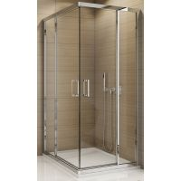 SanSwiss TOP-Line drzwi prysznicowe 100 cm częściowe 1/2 narożne prawe chrom/szkło przezroczyste TED2D10005007