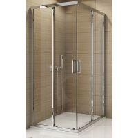 SanSwiss TOP-Line drzwi prysznicowe 70 cm częściowe 1/2 lewe chrom/szkło przezroczyste TOPG07005007