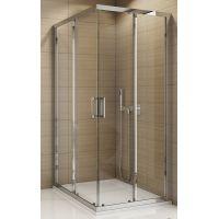 SanSwiss TOP-Line drzwi prysznicowe 90 cm częściowe 1/2 prawe chrom/szkło przezroczyste TOPD09005007