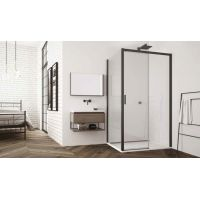 SanSwiss Top-Line S ścianka prysznicowa 80 cm czarny mat/szkło przezroczyste TOPF20800607