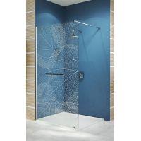 Sanplast Free Line II Walk-in ścianka wolnostojąca 80 cm P/FREEII-80 chrom/srebrny błyszczący/Sitodruk W19 600-261-0420-42-191