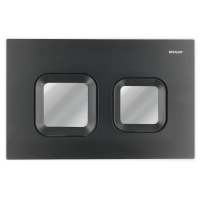 Bravat BVT-Z przycisk spłukujący do WC czarny mat/chrom BVT-Z/BCHR
