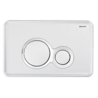 Bravat BVT-O przycisk spłukujący do WC biały/chrom BVT-O/WHCHR