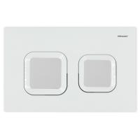 Bravat BVT-Z przycisk spłukujący do WC biały połysk/satyna BVT-Z/WS