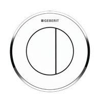 Geberit Typ10 przycisk spłukujący WC biały/chrom błyszczący 116.055.KJ.1