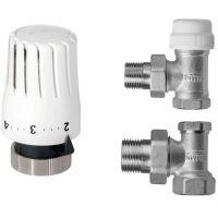 Invena komplet termostatyczny z nastawą wstępną kątowy CD-76-K15