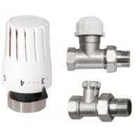 Invena komplet termostatyczny z nastawą wstępną prosty CD-76-P15