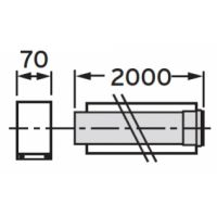 Vaillant rura przedłużająca koncentryczna O 80/125 mm 303205