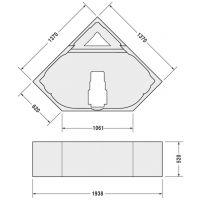 Duravit D-Code nośnik styropianowy do wanny 790476000000000