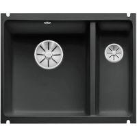 Blanco Subline 350/150-U zlewozmywak ceramiczny 56,7x45,6 cm PuraPlus lewy czarny 523747