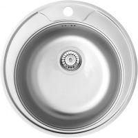 Deante Cornetto Plus zlewozmywak stalowy okrągły 48 cm satyna ZHC0813