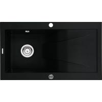 Deante Rapsodia zlewozmywak granitowy 86x50 cm wpuszczany czarny mat ZQRN113