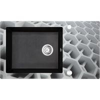 Deante Capella zlewozmywak szklano-granitowy 86x50 cm grafitowy metalik/heksagon ZSCGC2C
