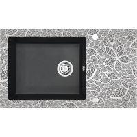 Deante Capella zlewozmywak szklano-granitowy 86x50 cm grafitowy metalik/natural ZSCGN2C