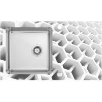 Deante Pallas zlewozmywak szklano-stalowy 86x50 cm stal szczotkowana/heksagon ZSP0C2C