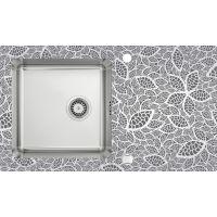 Deante Pallas zlewozmywak szklano-stalowy 86x50 cm stal szczotkowana/natura ZSP0N2C