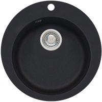 Genesis by Alveus Boogie 10 zlewozmywak 50,5 cm okrągły granitowy czarny 9811091