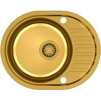 Steiner Clint 211 zlewozmywak stalowy 57x45 cm wpuszczany złoty HB7112PVDBSG1K