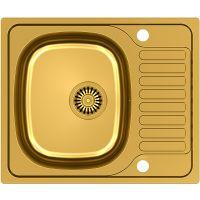 Steiner Sylvester 116 zlewozmywak stalowy 58x48,5 cm wpuszczany złoty HB7201PVDBSG1K