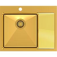 Quadron Russel 116 zlewozmywak stalowy 60x48 cm wpuszczany złoty HB7911PVDBSG1