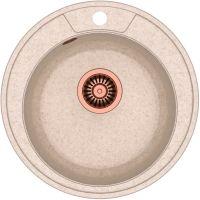 Quadron Danny 210 zlewozmywak 48,5 cm z GraniteQ wpuszczany beżowy metalik/miedziany HB8301U3-C1