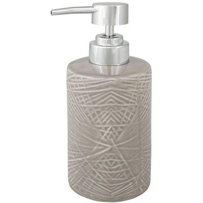Awd Interior Fadeno dozownik do mydła stojący kamionka beżowa AWD02191602